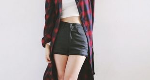 korean fashion [stylenanda] tartan shirt dress. korea fashionasian ... VYGMUCM